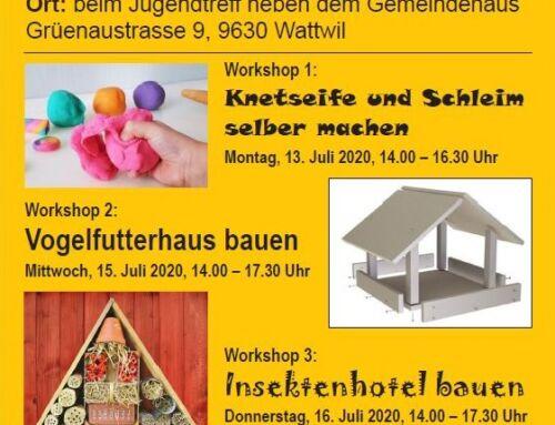 Sommer Workshops