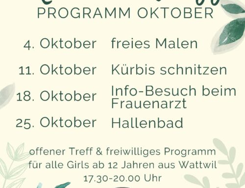 Mädchentreff Oktober